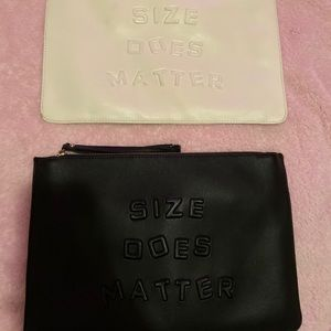"""2 """"Size does matter"""" hand bags"""